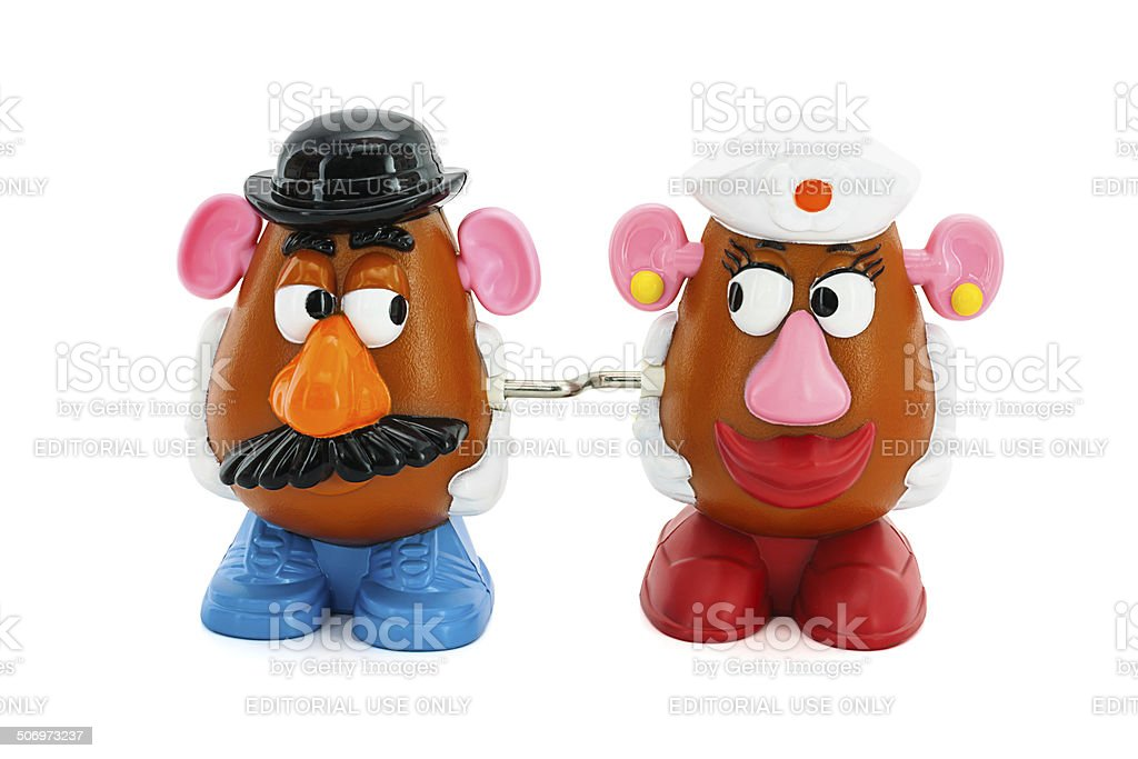 Mr. and Mrs. Potato Head stock photo