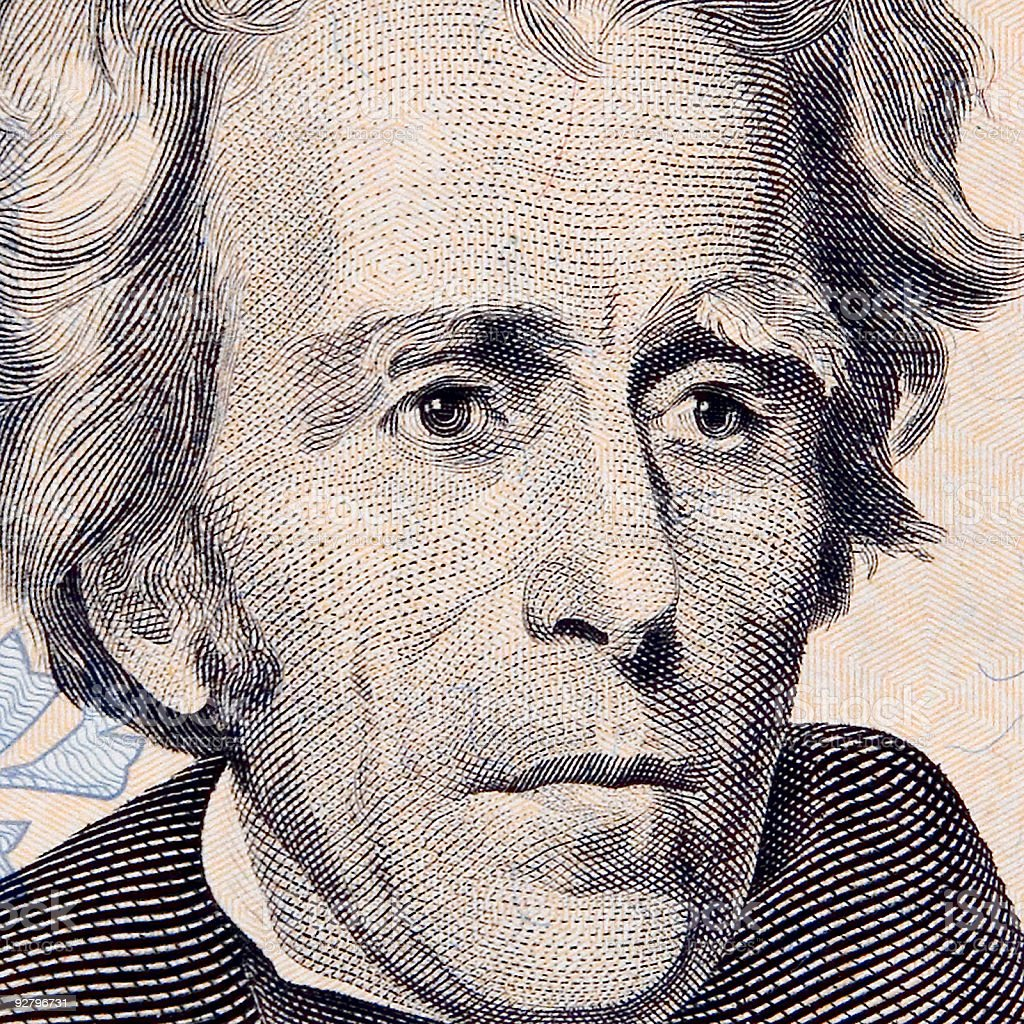 Mr. Andrew Jackson stock photo