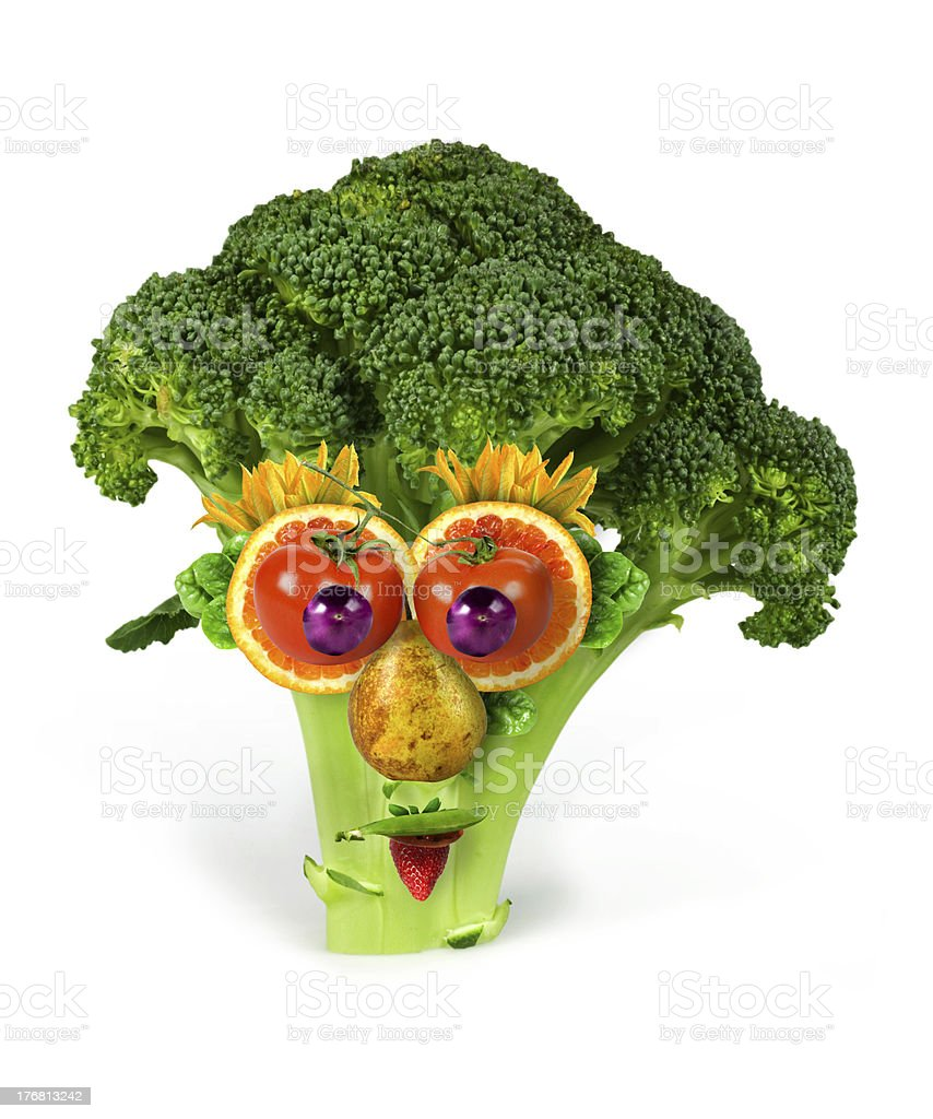 Mr broccoli stock photo