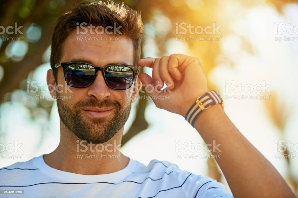 Mr Cool himself stock photo