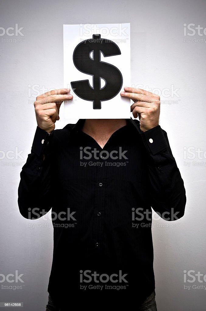 Mr Dollar royalty-free stock photo