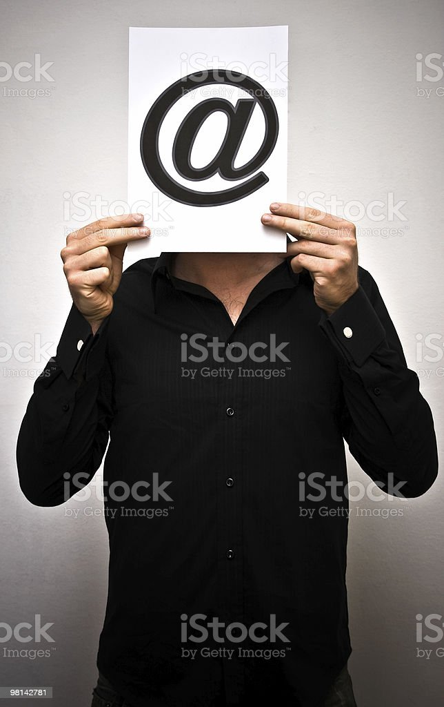 Mr Email royalty-free stock photo