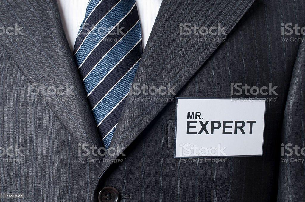 mr. expert royalty-free stock photo