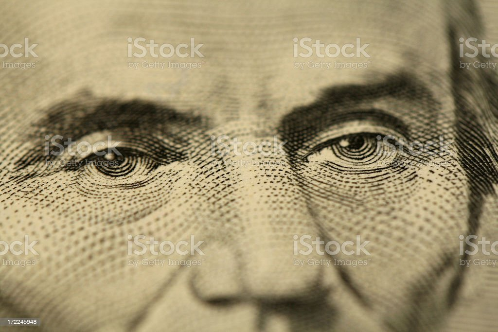 Mr Lincoln's eyes royalty-free stock photo