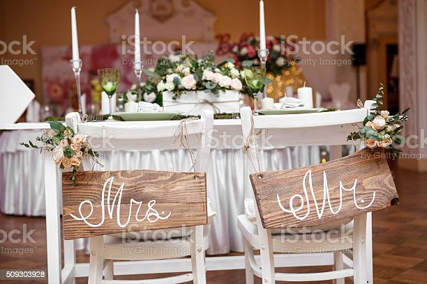 Mr Mrs Sign Stock Photo - Download Image Now