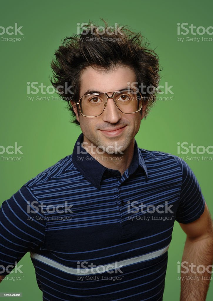 Mr. Nerd royalty-free stock photo