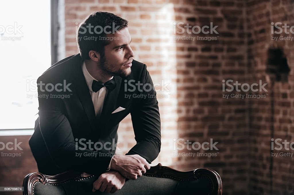 Mr. Perfect. stock photo