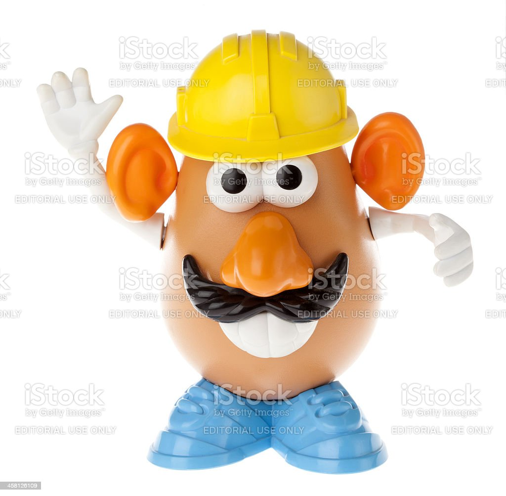 Mr. Potato Head - Construction Worker Frontal royalty-free stock photo