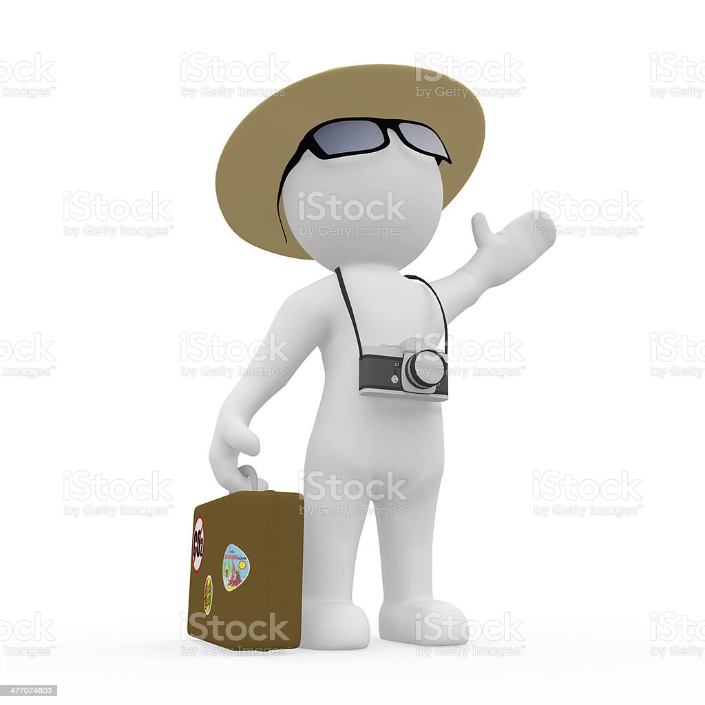 Mr. Smart Guy macht Urlaub stock photo