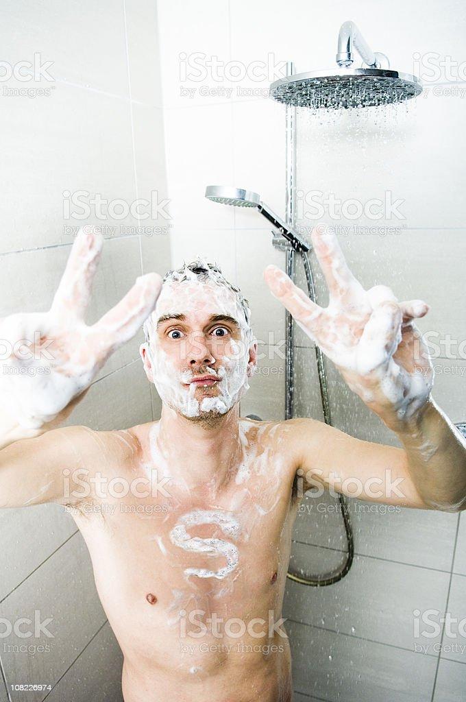Mr. Super Shower royalty-free stock photo