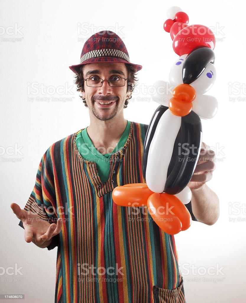 Mr Twister and penguin stock photo