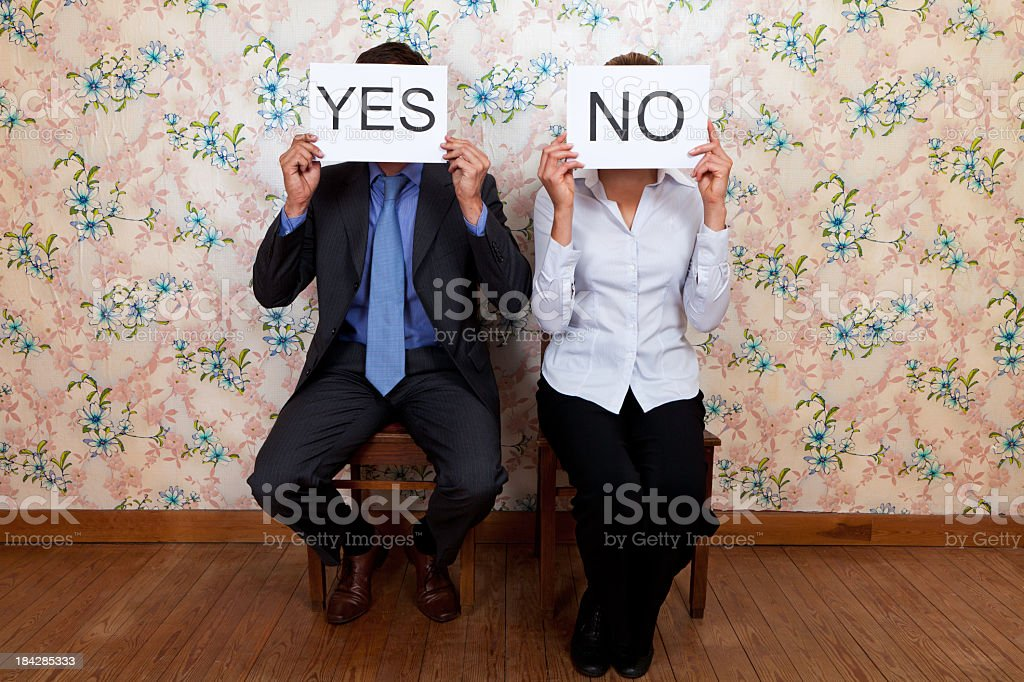 Mr Yes and Mrs No royalty-free stock photo