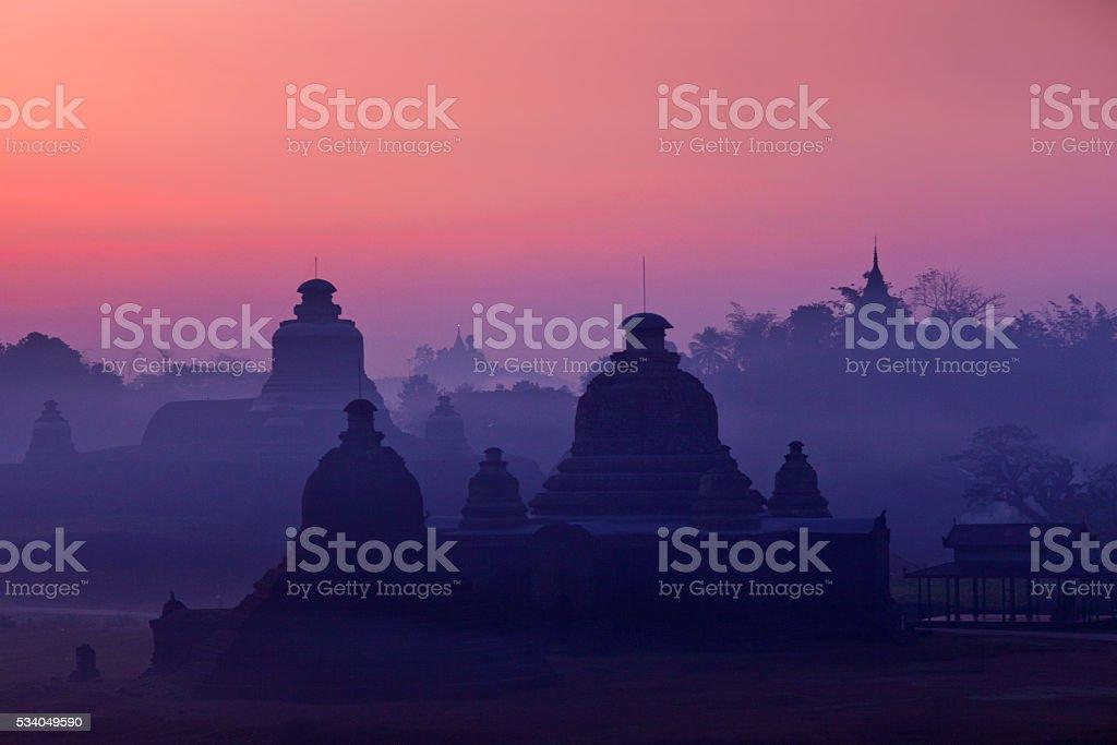 Mrauk U Archaeological Zone, Myanmar stock photo