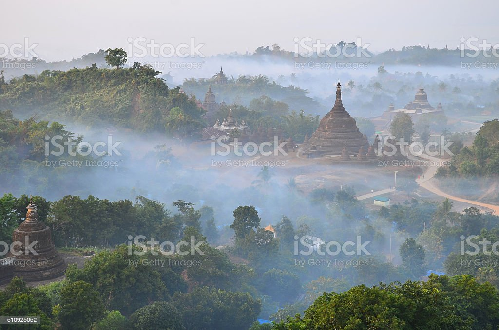 Mrauk U Pagoda stock photo