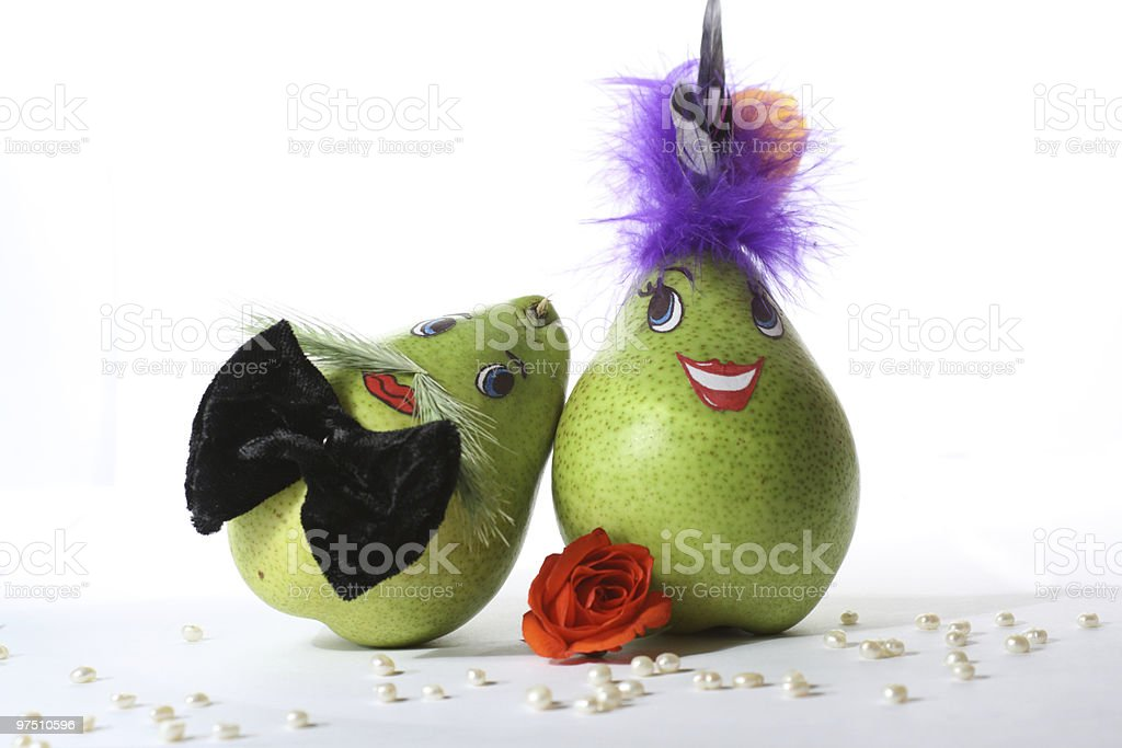 Mrs. and Mr. a Pear royalty-free stock photo