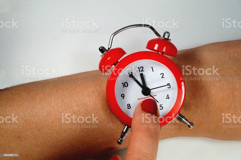 Frau Biologische Uhr stock photo