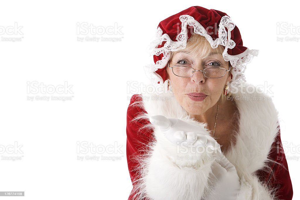 Mrs. Claus Blows a Kiss royalty-free stock photo