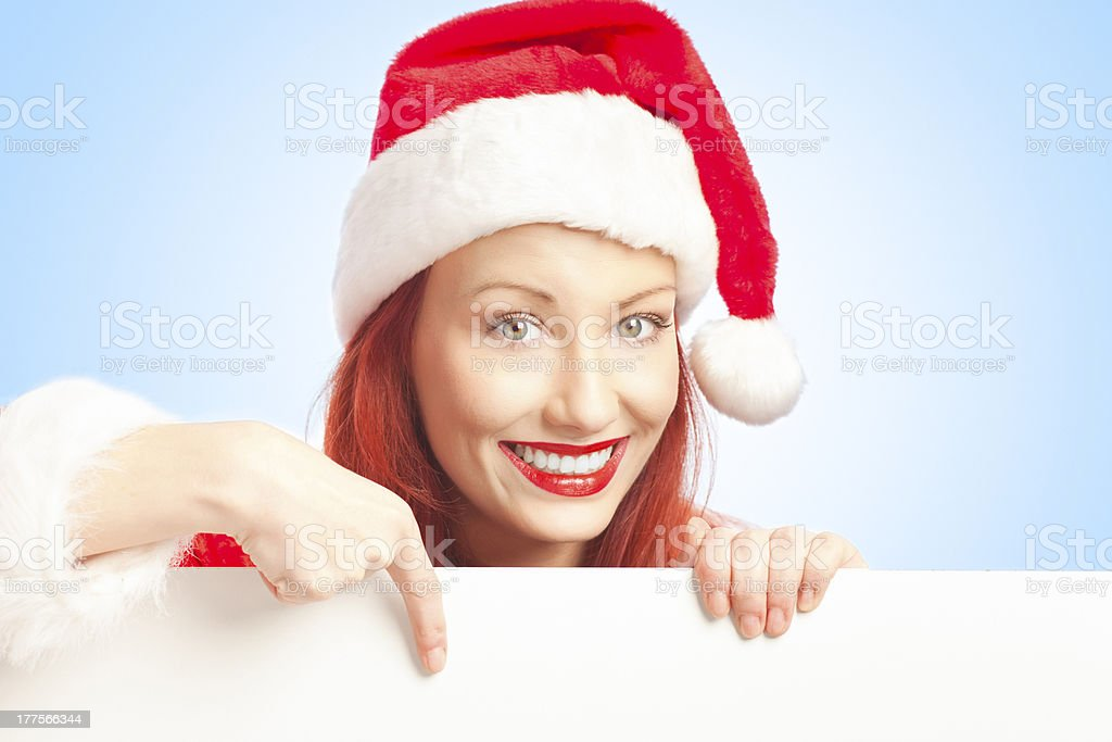 Mrs. Claus with copy space royalty-free stock photo