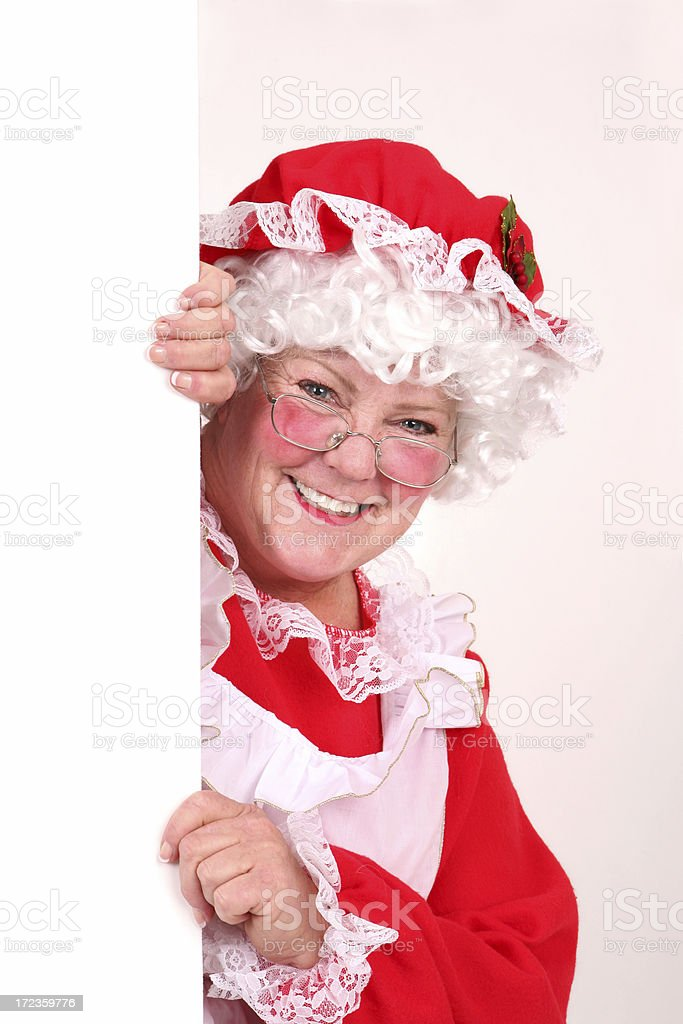 Mrs. Clause royalty-free stock photo