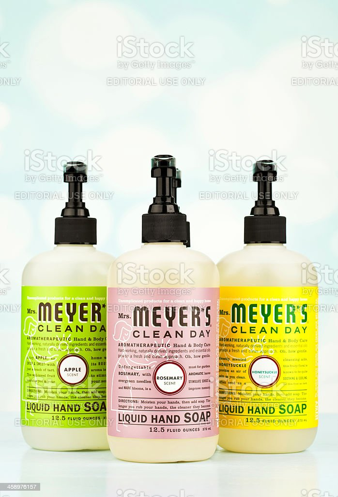 Mrs Meyer's Clean Day Products royalty-free stock photo