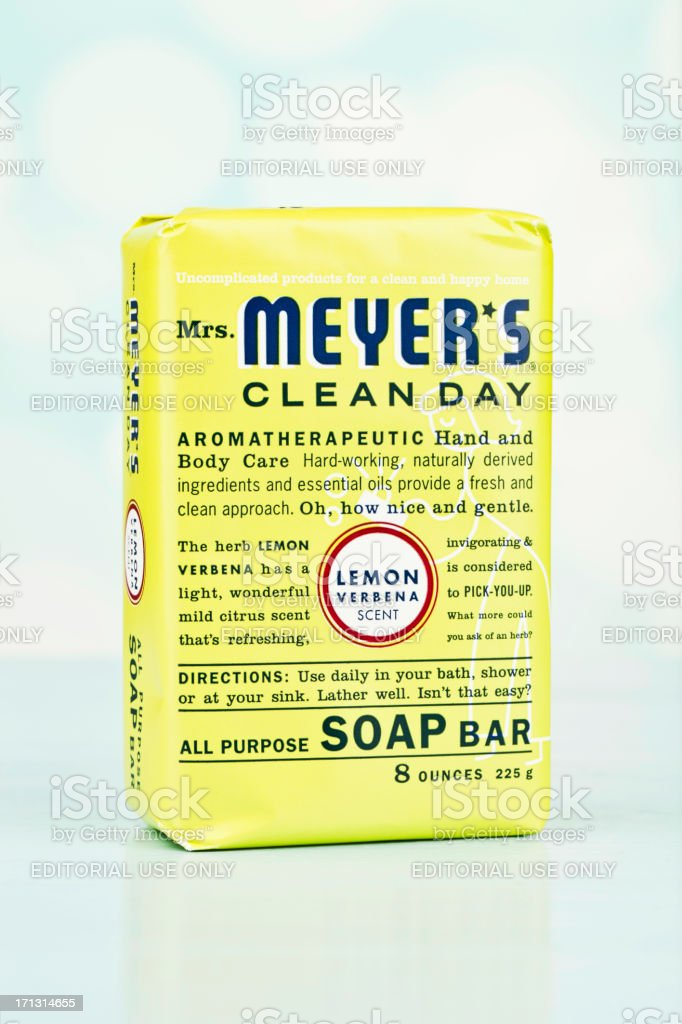 Mrs Meyer's Clean Day Soap Bar royalty-free stock photo