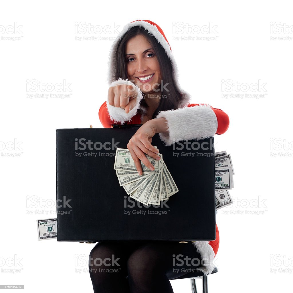 Mrs Santa Claus Choosed You For Gift royalty-free stock photo