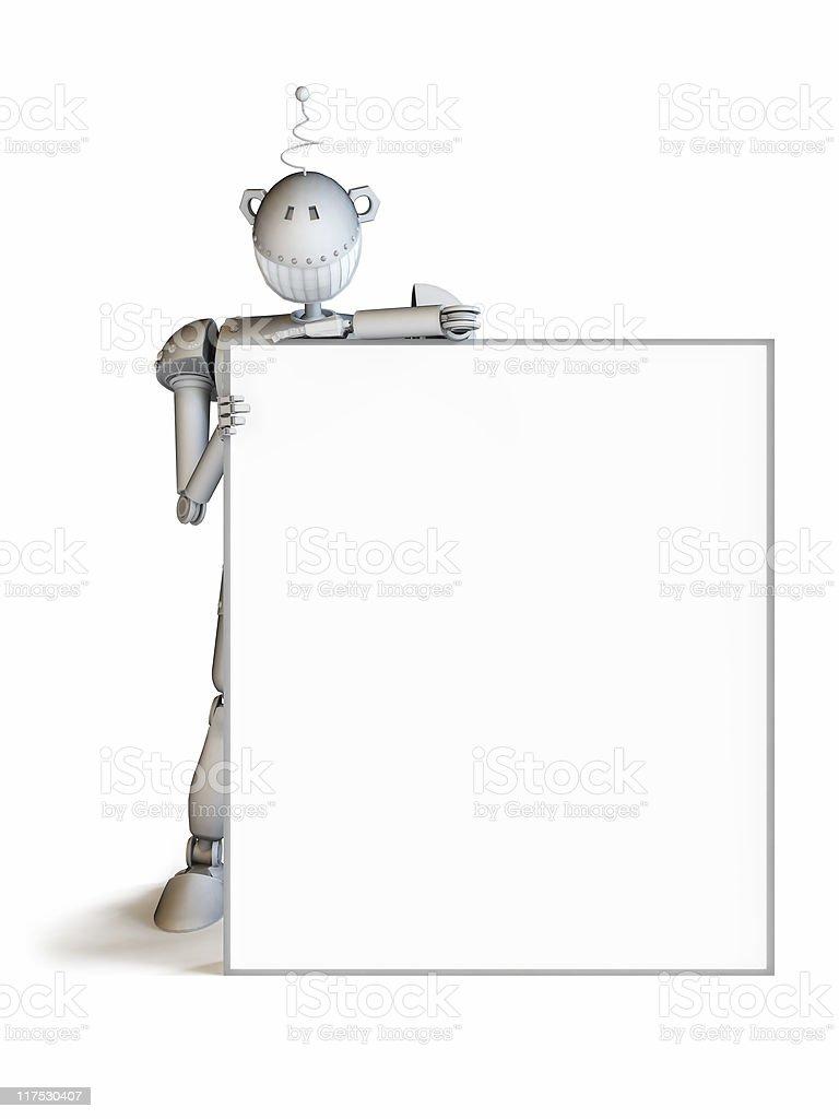 Mr.Smileg - the robot royalty-free stock photo