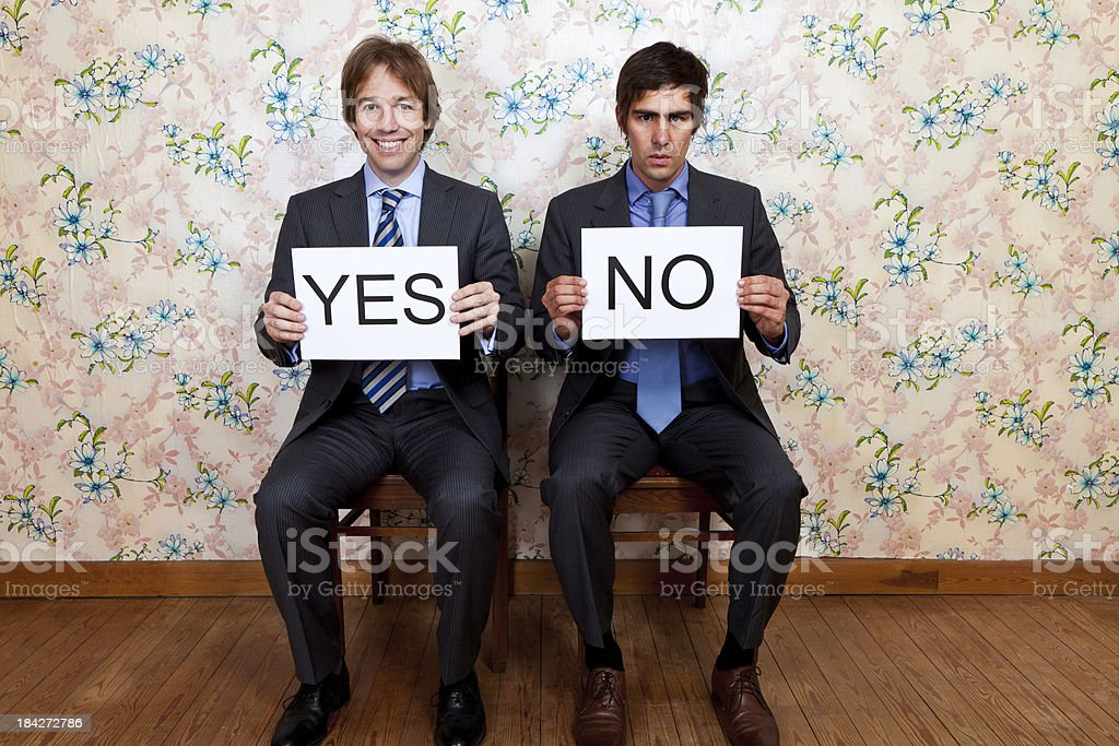 Mr'sYes and No stock photo