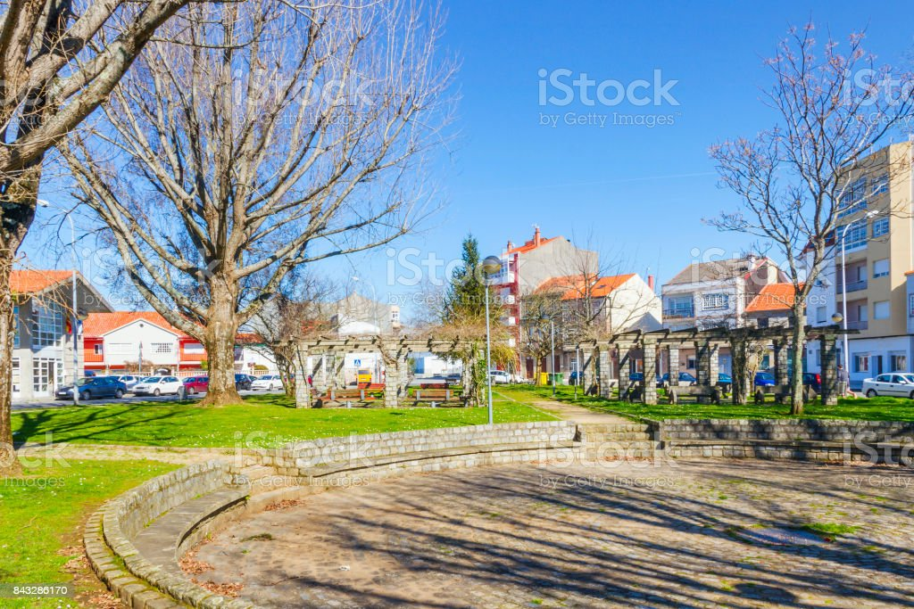 Ms. Concha park in Vilaxoan at winter royalty-free stock photo