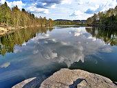 istock Mseno lake, Jablonec nad Nisou, Czech Republic 543689984