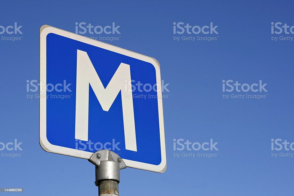 M-sign royalty-free stock photo
