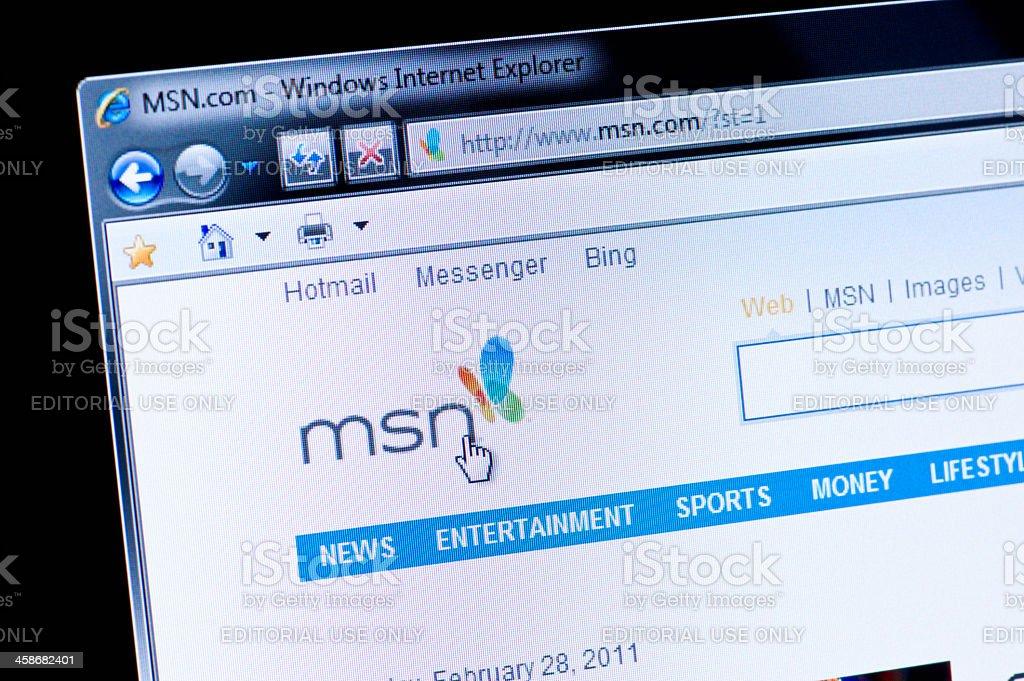 msn - Macro shot of real monitor screen stock photo