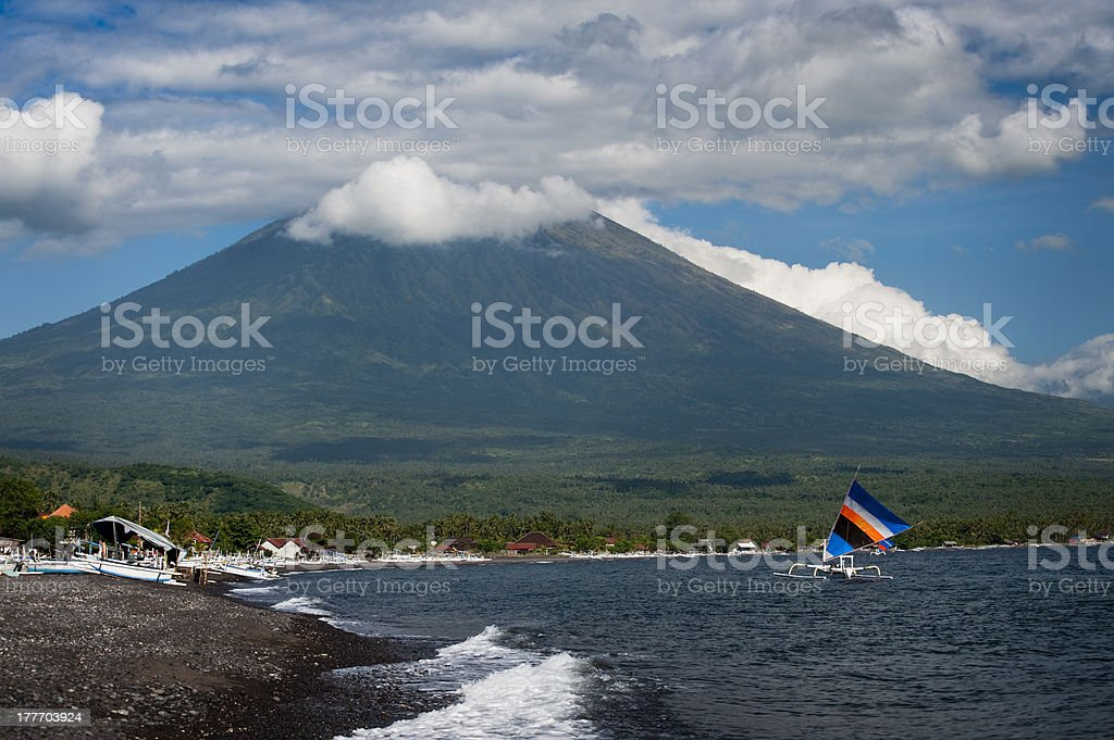 Mt. Agung, Amed, Bali. royalty-free stock photo