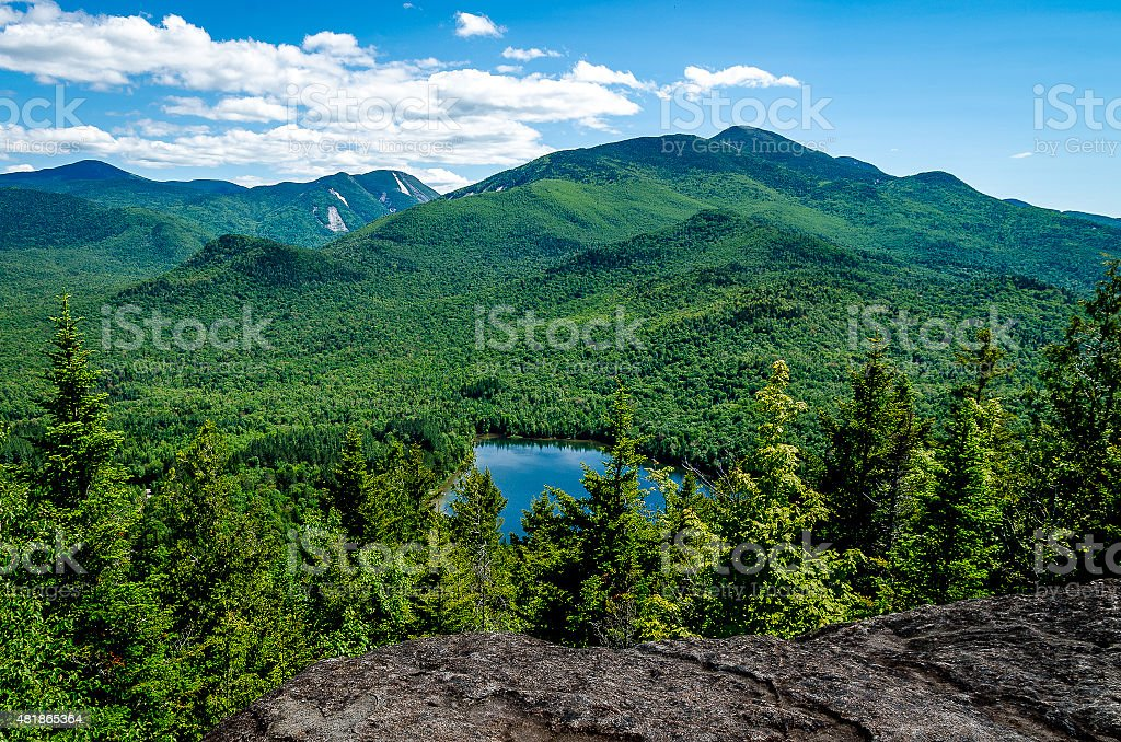 Mt. Algonquin and Heart Lake stock photo