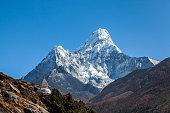 Way to Everest base camp, Khumbu valley, Sagarmatha national park.