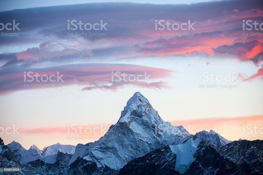 Mt. Ama Dablam stock photo