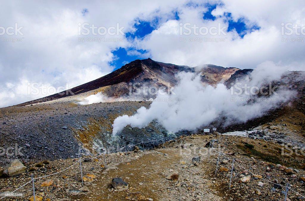 Mt Asahidake in Daisetsuzan National park, Hokkaido, Japan royalty-free stock photo