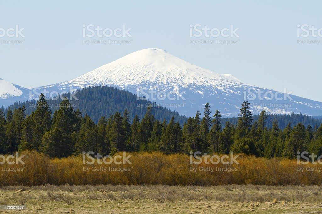 Mt Bachelor Deschutes Forest stock photo