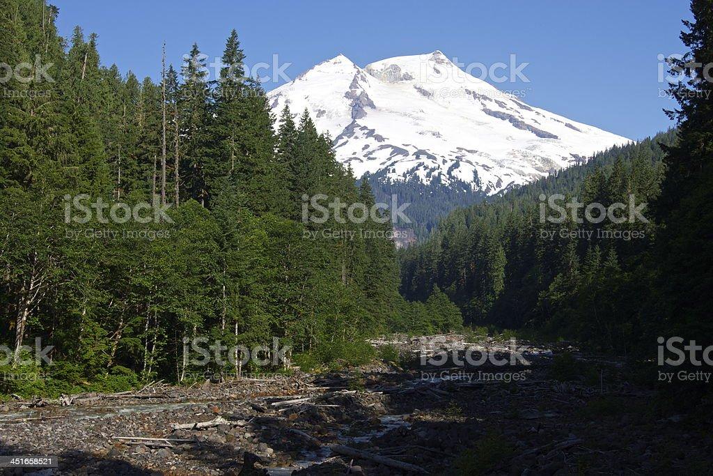 Mt. Baker Blue Ice stock photo