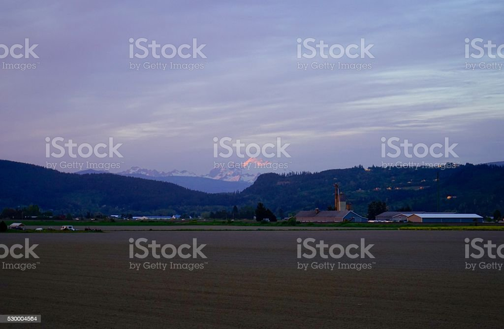 Mt. Baker Glow stock photo