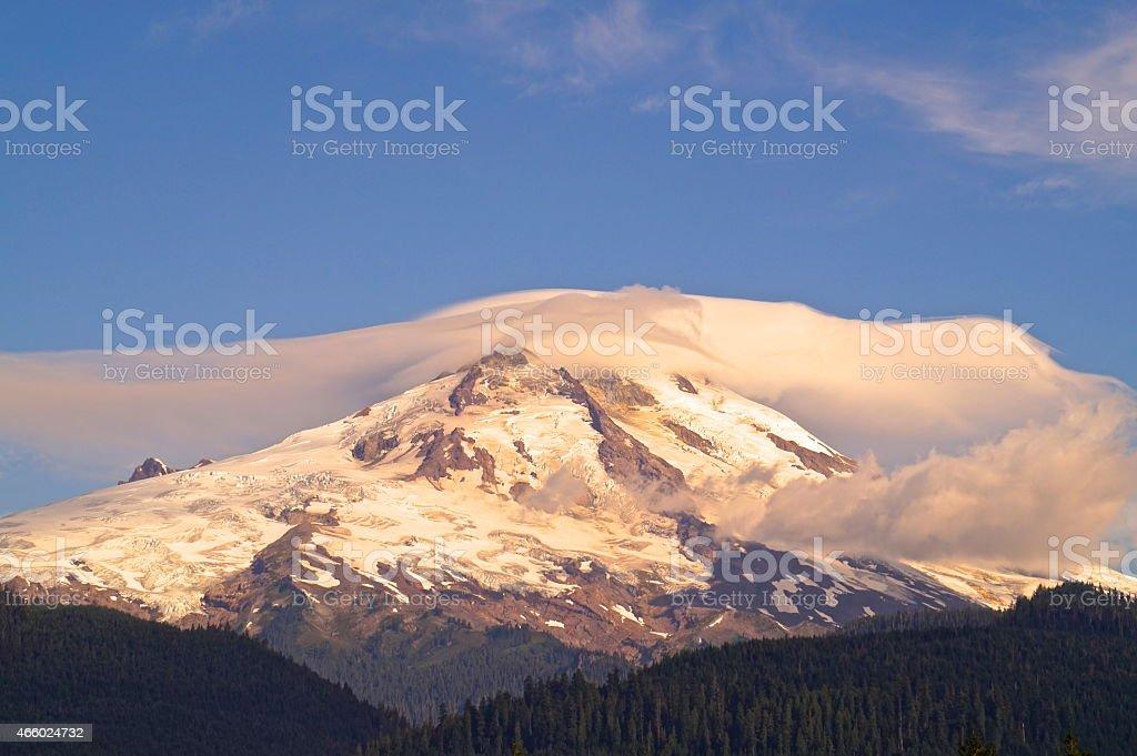 Mt. Baker Mystic Ice stock photo