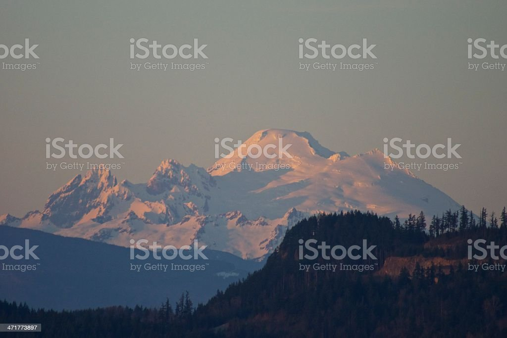 Mt. Baker Sunset royalty-free stock photo