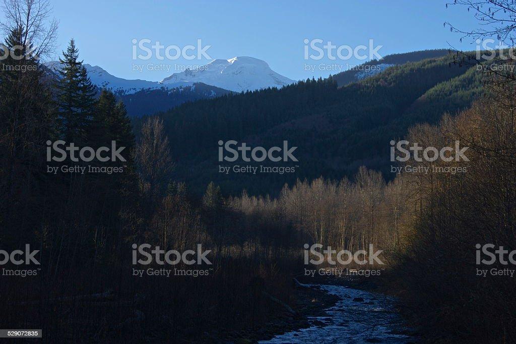Mt. Baker/Glacier Creek stock photo