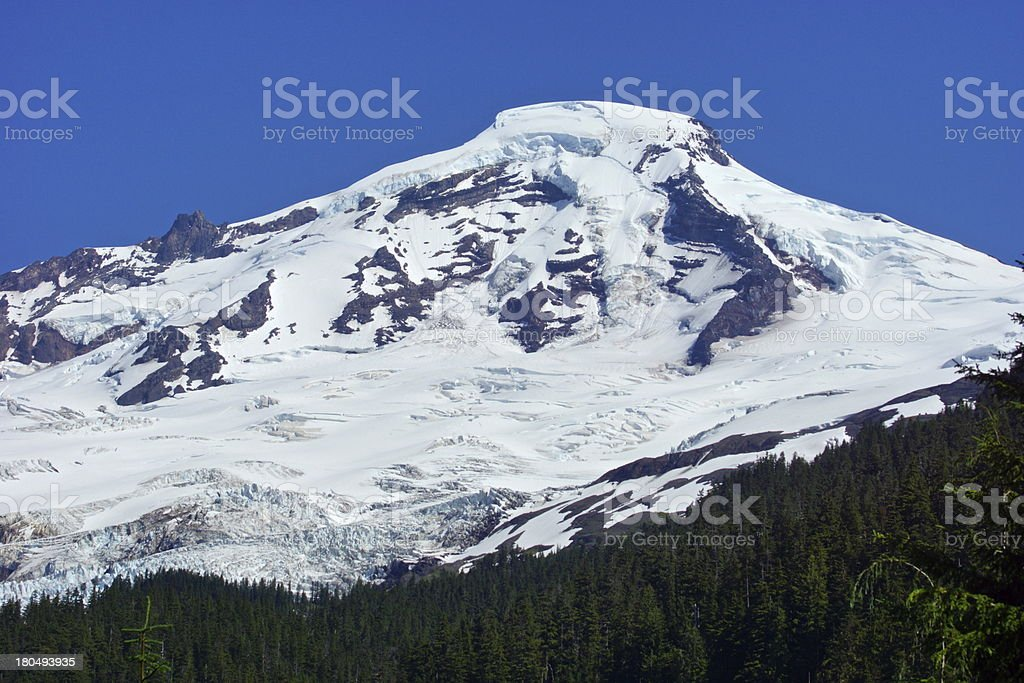 Mt. Baker's Thick Ice stock photo