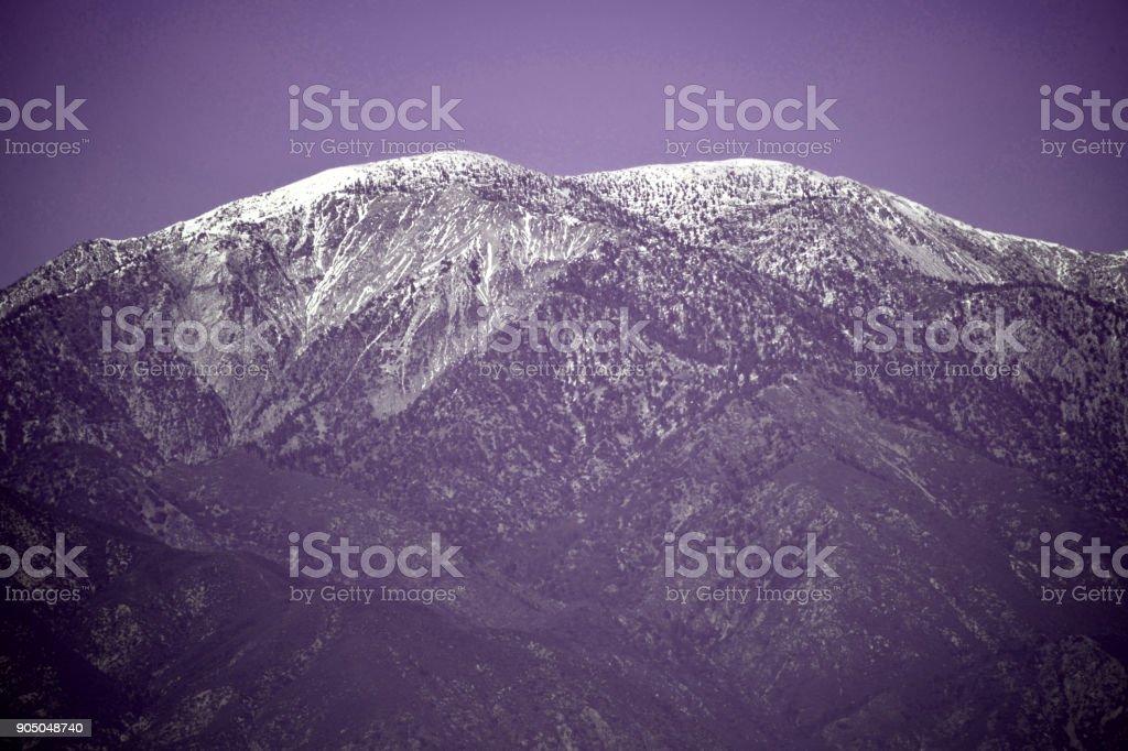 Mt. Baldy In Retro Color stock photo