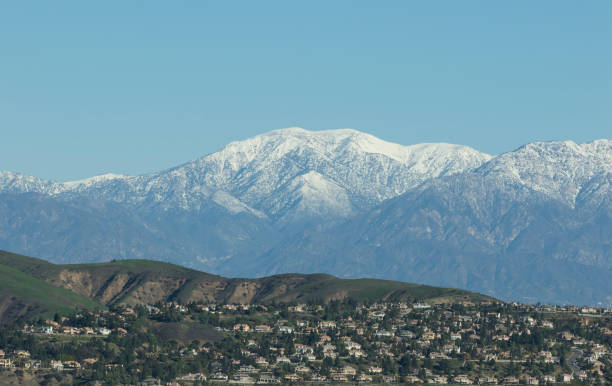 Mt. Baldy A winter view of Mt. Baldy in Southern, CA. mount baldy stock pictures, royalty-free photos & images