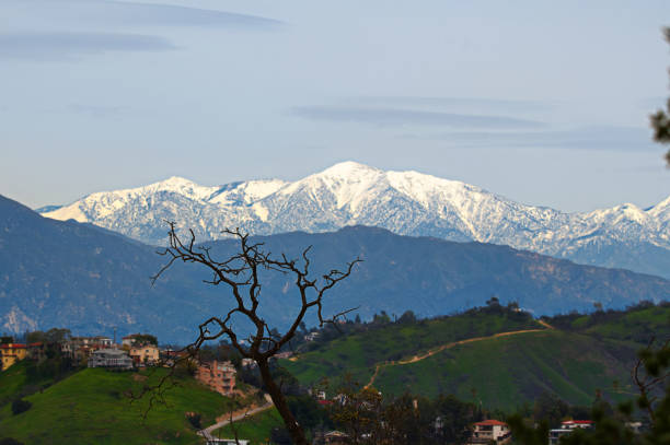 Mt Baldy Snow capped Baldy mount baldy stock pictures, royalty-free photos & images