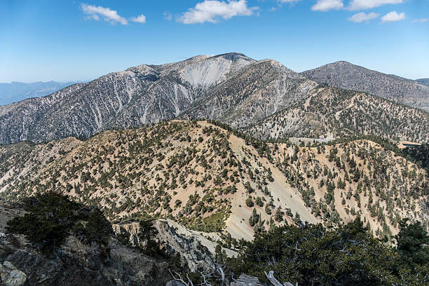 Mt Baldy Summit in Los Angeles County California View of the 10,068 foot Mt Baldy summit.  The highest peak in Los Angeles County California. mount baldy stock pictures, royalty-free photos & images