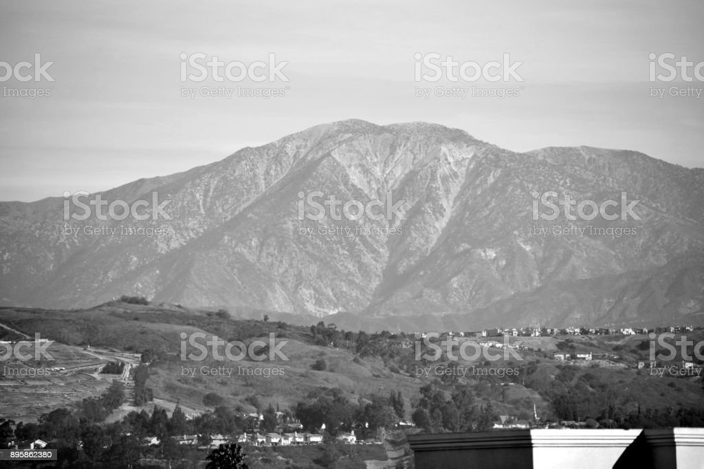 Mt. Baldy Towers in the Distance stock photo