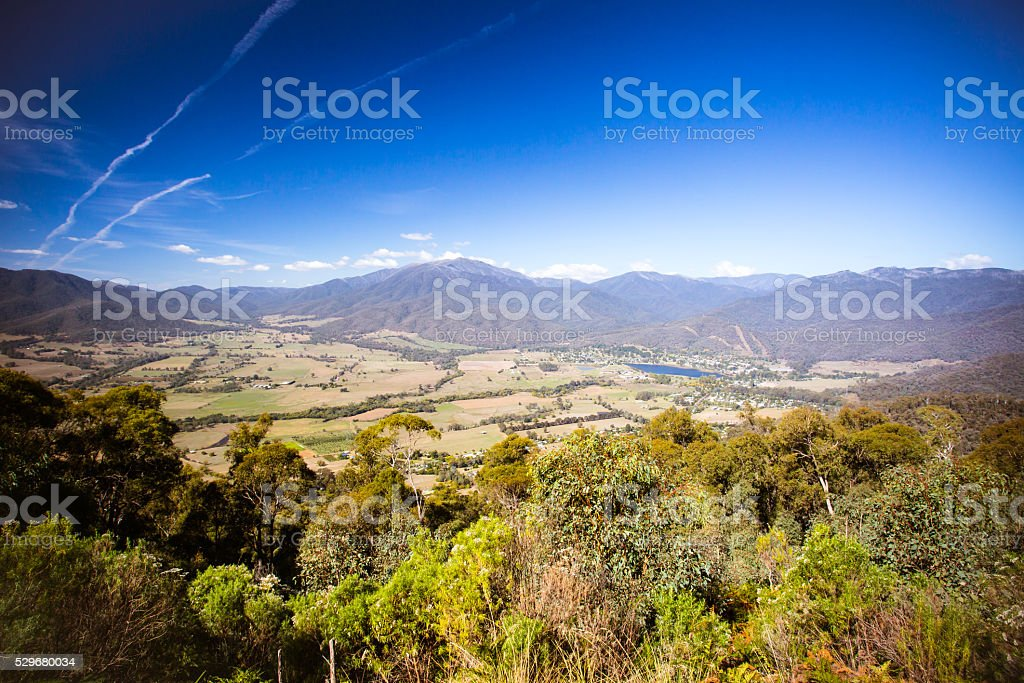 Mt Beauty Lookout stock photo